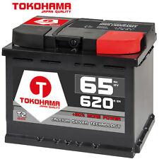 Autobatterie 65Ah +30% mehr Leistung CA/CA Starterbatterie sofort betriebsbereit