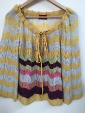 Missoni Zigzag Chevron Pattern Wool Blend Sweater S