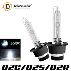 D2C D2S D2R 55W 6000K HID Xenon Replacement Low/High Beam Headlight Lamp Bulbs
