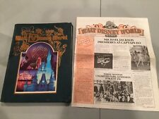 1986 Walt Disney World - Souvenir Park Book/Sept 1986 Newspaper Michael Jackson