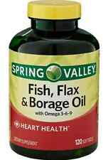 Spring Valley Fish, Flaxseed, Borage Oil, 120ct, Contains Omega 3, 6, 9