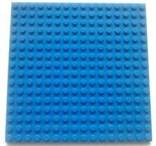 LEGO 1 x BLUE PLATE Base Board 16x16 Pin 12.8cm x 12.8cm x 0.5cm - BRAND NEW
