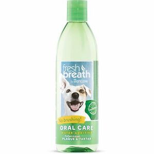 TropiClean Oral Care Water Additive 473ml Fights Plaque Tartar for Dog Cats