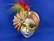 New Theatrical Mask Mardi Gras Blown Glass Christmas Tree Ornaments 003092