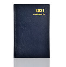 2021 Diary,  A4,A5 Week To View Book Bound Diary Hardback Cover