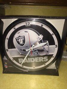 2009 NFL RAIDERS Football Wall Clock Quartz Movement Wincraft Sports NEW