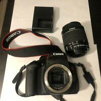 Canon EOS Rebel T6i 24.0MP Digital SLR Camera Black Kit w/ EF-S IS 18-55mm lens