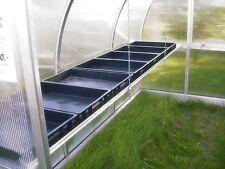 Exaco Trading - Riga Shelf Planter Box - Heavy Duty Black Seed Tray New