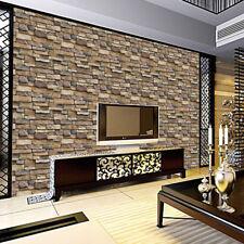Wall Brick Decor 3d Sticker Adhesive Decal Room Home Self Stone Diy Mural Decor