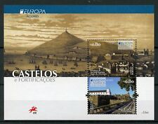 Portugal Azores 2017 MNH Castles Europa 2v M/S Tourism Architecture Stamps