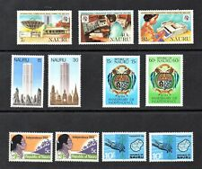 NICE 5 MINT STAMPS SETS OF NAURU,(PICTORIAL),MNH**