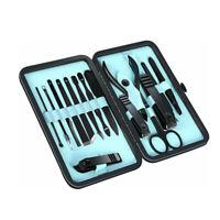 Manicure Pedicure Nail Care Set Cutter Cuticle Clippers Kit Care 19 Pcs New USA