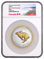 2017 Canada Big Coin Alex Colville Rabbit 5 oz. Silver Gilt NGC PF69 ER SKU47399