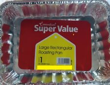 5 x DISPOSABLE ALUMINIUM FOIL ROASTING BAKING DISH CATERING TRAYS LARGE & STRONG