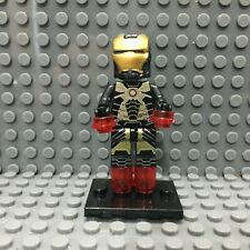 Iron Man Black and Gold Armor Custom Minifigure NEW LEGO Compatible