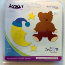 ACCUCUT Zip'eSlim Wood Die Cut *Moon & Teddy Bear* Sizzix Compatible NEW