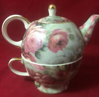 Peppertree Tabletops Porcelain Personal Teapot &Tea cup