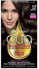 Garnier Olia Oil Permanent Hair Color Dark Brown 4.0, Easier Application Color