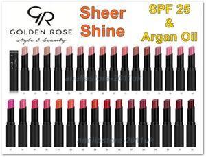 Golden Rose Sheer Shine Stylo Lipstick SPF 25 Argan Oil Vitamin E
