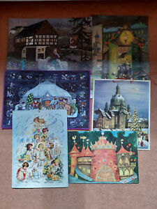 6 alte Adventskalender Frauenkirche Im Zirkus Altberliner Weihnachtsmarkt DDR