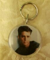 "1991 Retro Beverly Hills 90210 Keychain Key Ring w/ ""Brandon"" Photo & Show Logo"