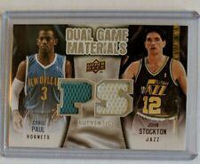 2009-10 Upper Deck Dual Game Materials Chris Paul John Stockton #DG-PS HOF (LN)