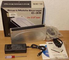 """ESTERNO alloggiamento Disco rigido 3,5 """" IDE EIDE USB 2.0 HiSpeed+ alimentatore+"""