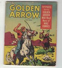 GOLDEN  ARROW #11-MIGHTY MIDGET COMICS-RARE 1942 WESTERN-WAR BOND STAMP-F/F+