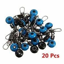 20x Fishing Barrel Swivels Connector Snaps Sinker Pin Tackle Sea Fish Rigs Link
