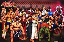 STREET FIGHTER - CLASSIC CHARACTERS - COLLAGE POSTER 24x36 - VIDEO GAME 49633