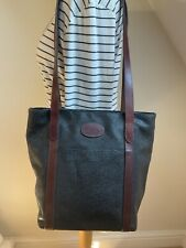 Vintage Mulberry black Scotchgrain branston leather Arabella tote shoulder bag