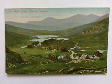 Capel Curig Vintage colour postcard c1910 Lake & Snowdon printed in Germany