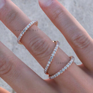 Natural 0.60 Ct. Pave Diamond Knuckle Ring VS Clarity F Color 14k Yellow Gold...