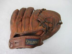 Vintage 1950s baseball mitt glove Spalding Jerry Lumpe