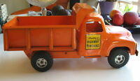 1950s Orange Buddy L Highway Maintenance Dump Truck