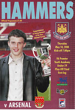 West Ham v Arsenal FA Premier Academy Under-19 Play-off Final 1st Leg 18/5/00