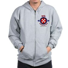 """8TH ARMY* SOUTH KOREA """" PACIFIC VICTORS* LEFT CHEST ZIPPER HOODIE"""