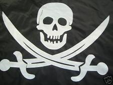 "SPARE TIRE COVER 24.4""-26"" w/ Pirate Skull white image on black cover xs309540p"