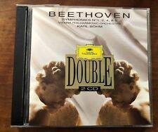 Karl Bohm w/ VPO• Beethoven: Symphonies Nos. 1, 2, 4, 5 (2CD 1994 DG) Like New