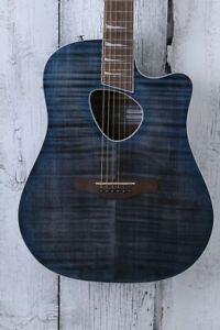 Ibanez Altstar ALT30FM Acoustic Electric Guitar Flame Maple Top Blue Doom Burst