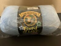 Lion Brand Pound of Love baby yarn, 106 Pastel Blue, 1 skein, 1020 yds