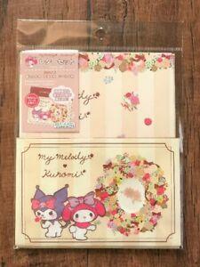 Sanrio My Melody & Kuromi Letter Sheet Envelope Set  Stationery   Japan