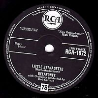 NICE  HARRY BELAFONTE CALYPSO 78   LITTLE BERNADETTE / DANNY BOY  UK RCA 1072 E+