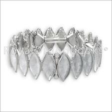 Silver Tone Magnetic Hematite Bracelet / Bangle