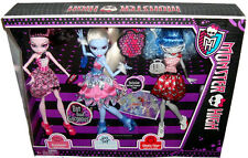 Monster High Dot Dead Gorgeous 3 Pack Dolls Draculara Ghoulia & Abbey MIB X4482