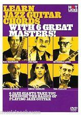 Hot Licks aprender chording acordes de jazz con 6 grandes maestros Play Guitar Music DVD