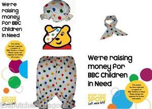 Unisex Children in Need Pudsey Bear Polka Dot CIN Fancy Dress UK