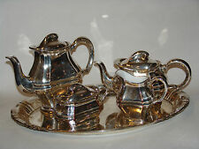 WMF Kaffee und Teeservice versilbert overlay ca. 1920 / 1930 Art Deco