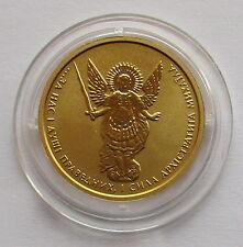 Rara vez!!! 1/10 onza de oro moneda ucrania 2 grivna 2013, Archangel Michael