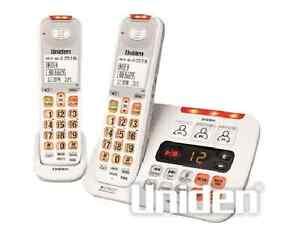UNIDEN SSE45+1 WHITE SIGHT & SOUND ENHANCED CORDLESS PHONE SYSTEM